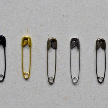 Nickel-plated Safety Pins
