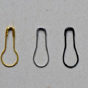 Pear Shaped Safety Pins
