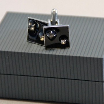 Square Cufflink with strass